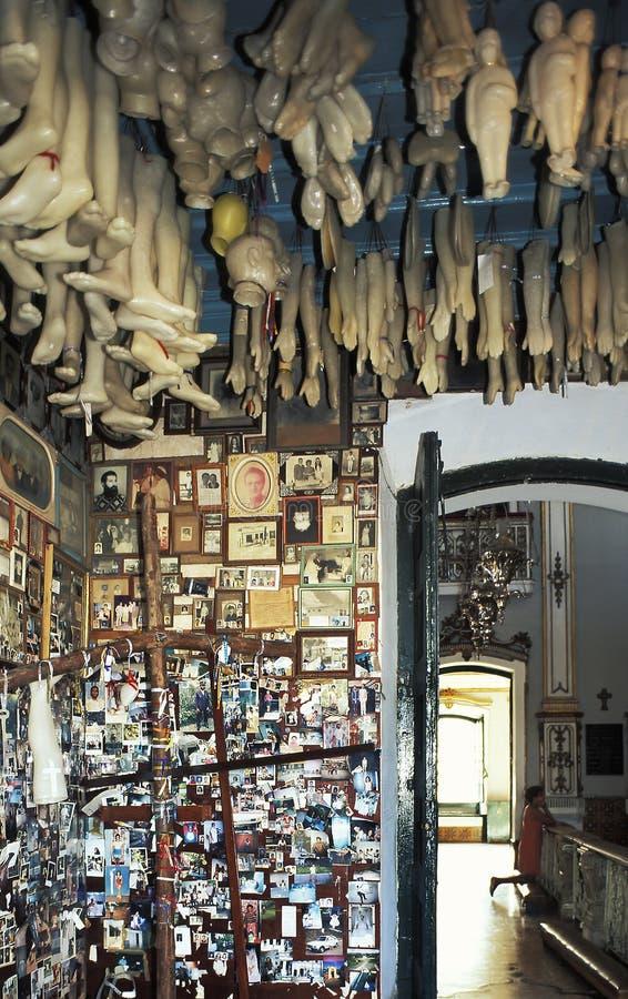 Plastic body parts as votive religious offering, Salvador, Brazil. stock images