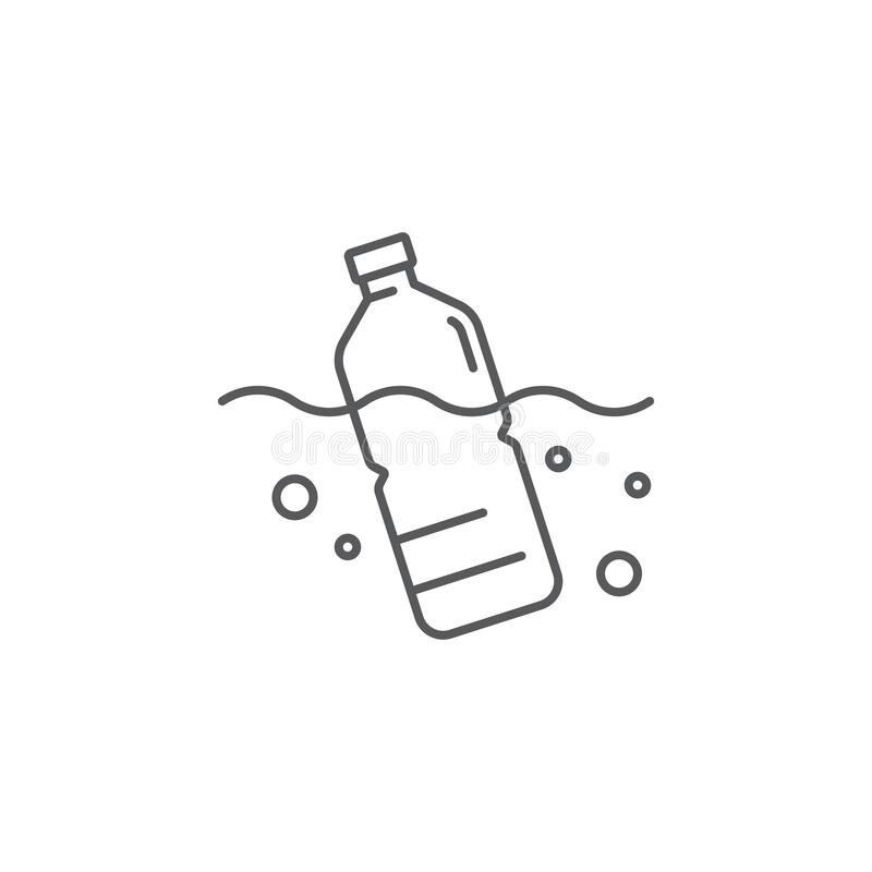 Free Plastic Bottle Floating In The Sea Vector Icon Symbol Sign Isolated On White Background Royalty Free Stock Photo - 180060615
