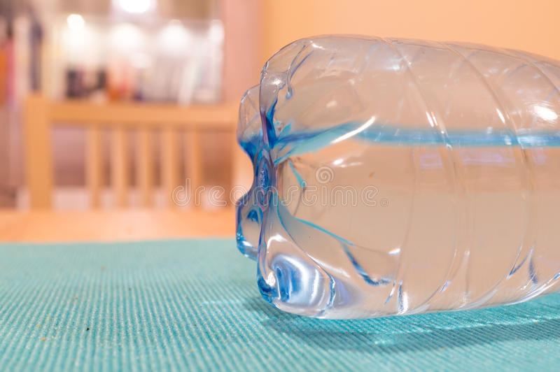 Plastic bottle. With natural water royalty free stock photos