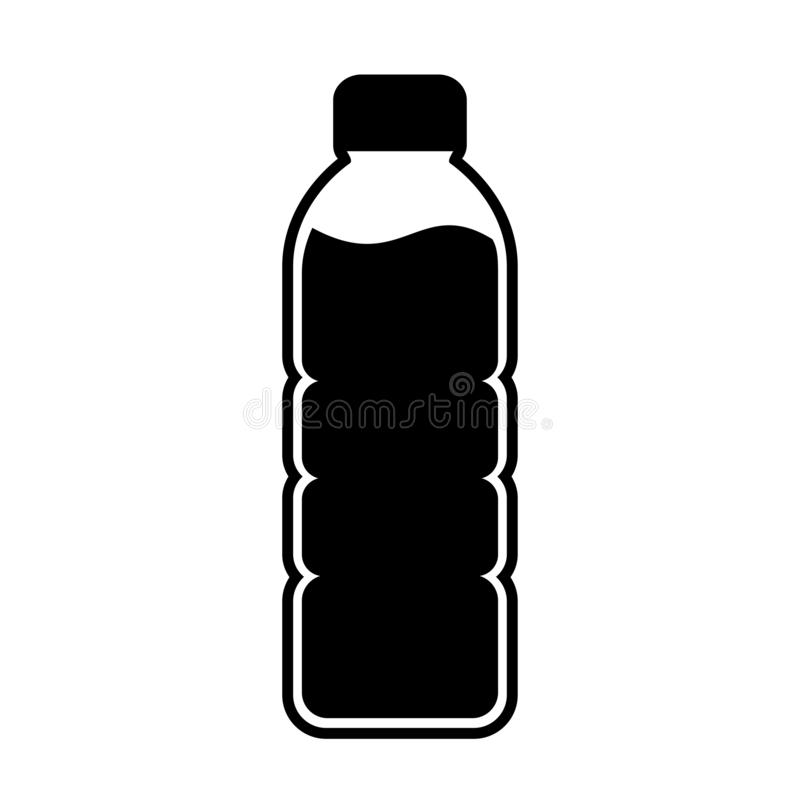 Free Plastic Bottle Vector Silhouette Royalty Free Stock Image - 162526496
