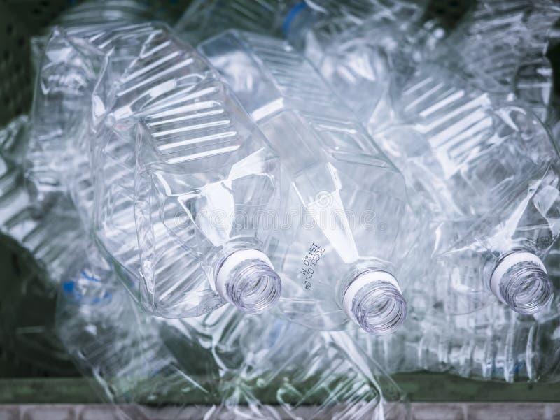 Plastic bottles empty Pet bottle Recycle Ecology concept stock photo