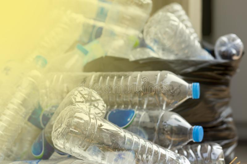 Plastic bottles are recycled royalty free stock photos