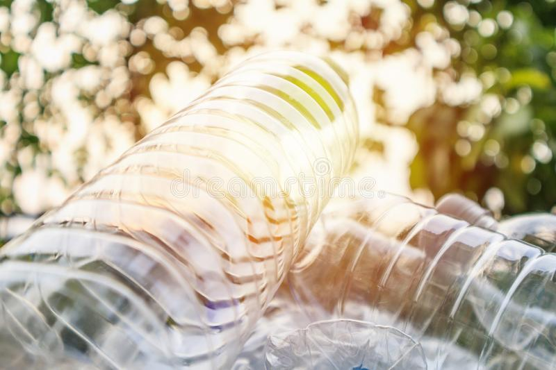 Plastic bottles, recycling background concept royalty free stock photo