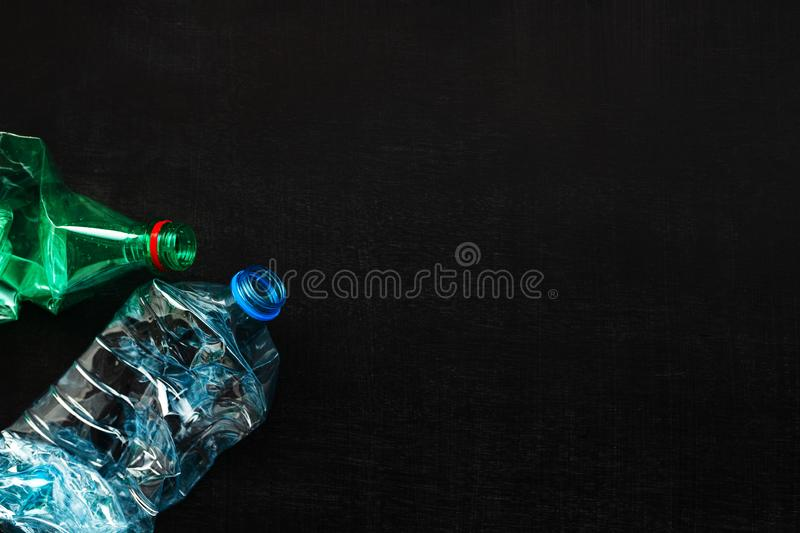 Plastic bottles for recycling royalty free stock image
