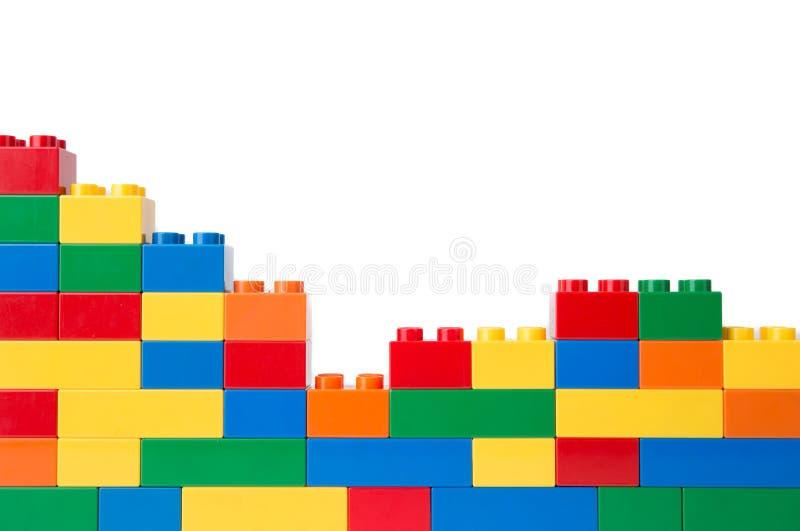 Plastic bouwstenen stock foto's