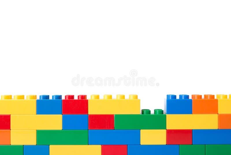 Plastic bouwstenen royalty-vrije stock fotografie