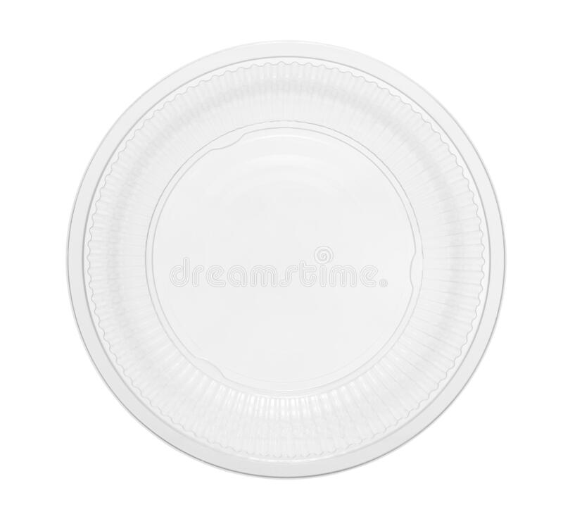 Plastic bowl disposable top view royalty free stock photo