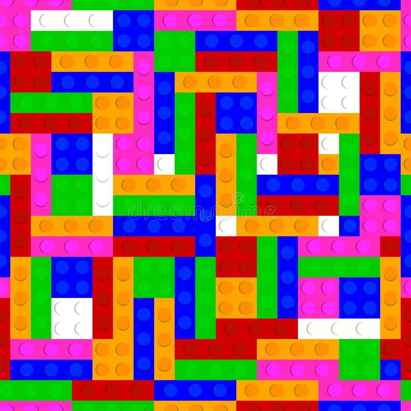 Plastic bricks seamless pattern background. royalty free illustration