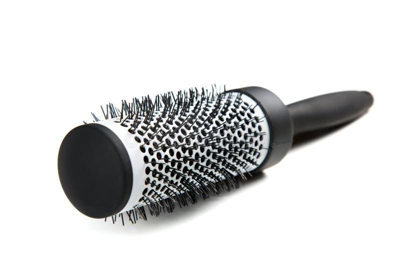 Plastic bristle comb isolated on white. Background stock image