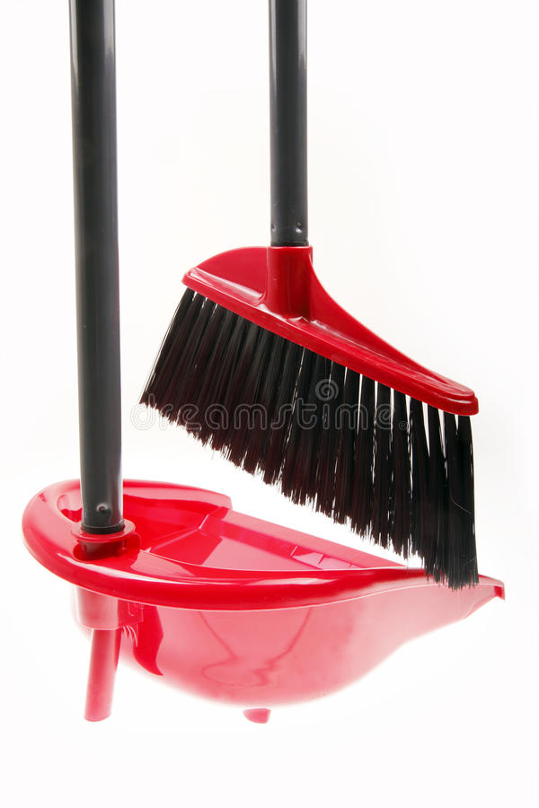 Download Plastic broom with dustpan stock image. Image of sweep - 12219537