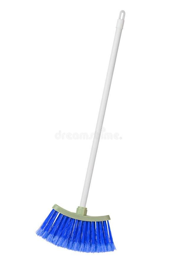 Plastic broom. Isolated on white background stock photos