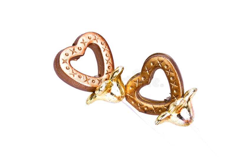 Plastic Brown Heart stock image