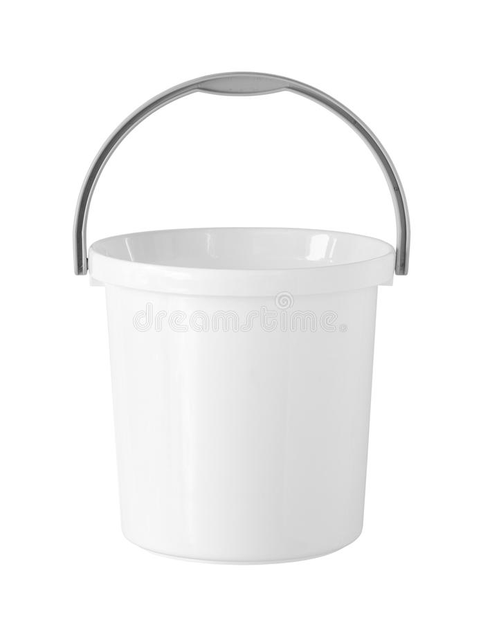 Plastic bucket. (with clipping path) isolated on white background royalty free stock image