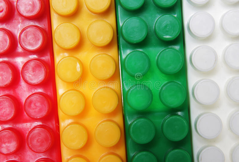 Plastic Building Blocks Background Royalty Free Stock Photo