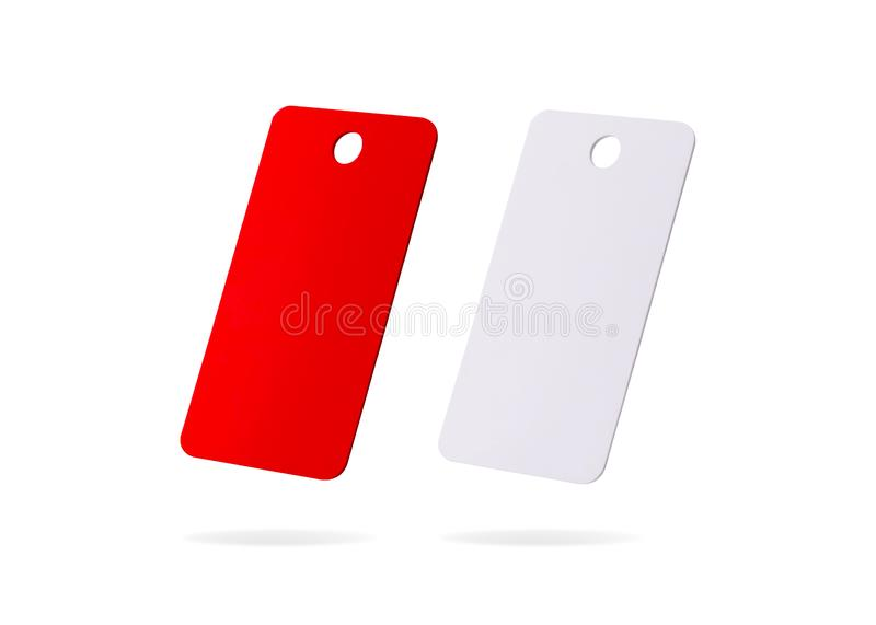 Plastic card isolated on white background. Price tag or hanging label for your design.  Clipping paths or cut out object for. Plastic card isolated on white royalty free illustration