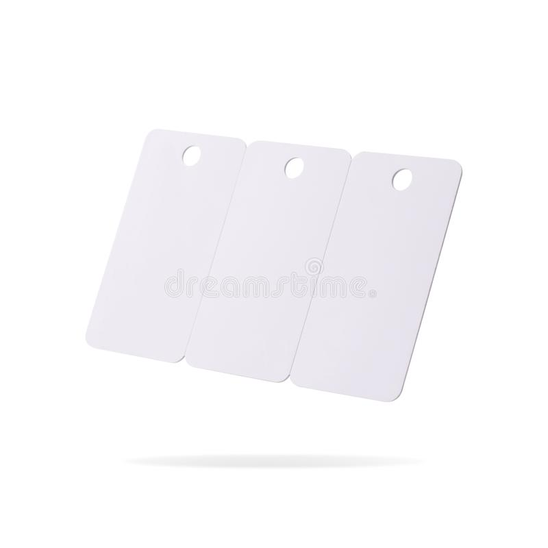 Plastic card set isolated on white background. Price tag or hanging label for your design.  Clipping paths or cut out object for. Plastic card set isolated on stock images
