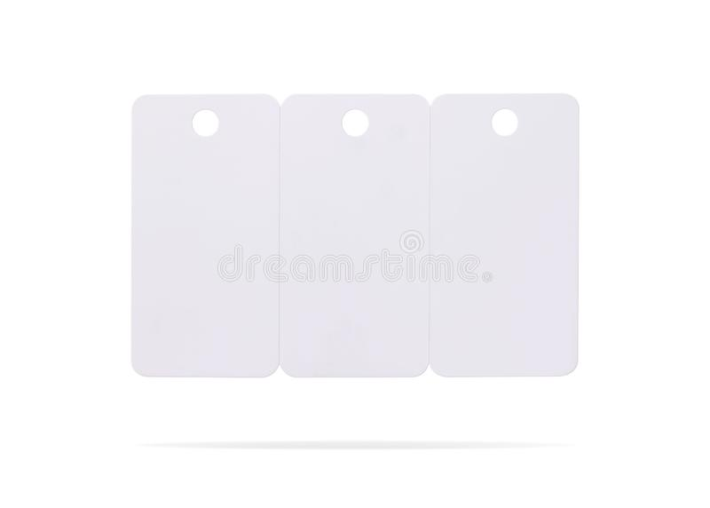 Plastic card set isolated on white background. Price tag or hanging label for your design.  Clipping paths or cut out object for. Plastic card set isolated on royalty free stock photos