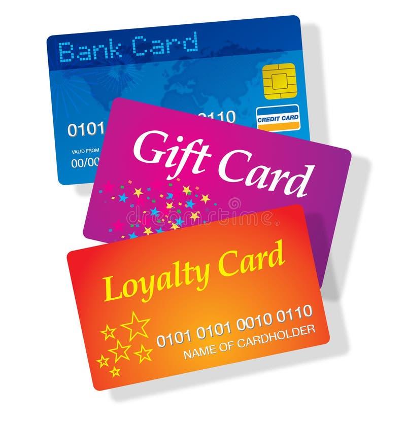 Plastic cards royalty free illustration