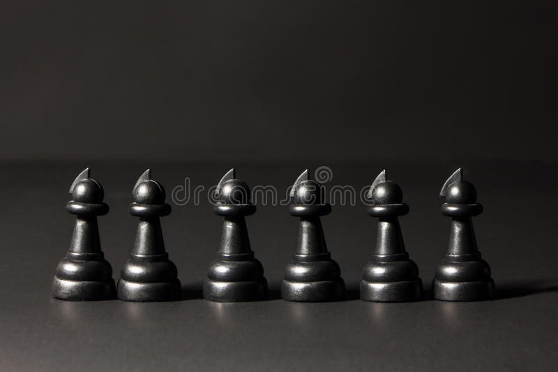 Plastic chess pieces stock image