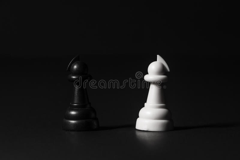 Plastic chess pieces royalty free stock photos