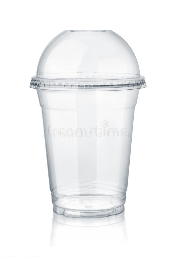 Free Plastic Clear Cup With Dome Lid Royalty Free Stock Image - 94557416