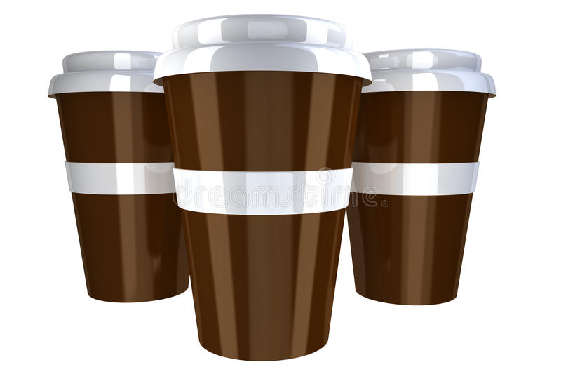 Download Plastic coffee cup stock illustration. Illustration of object - 21017412