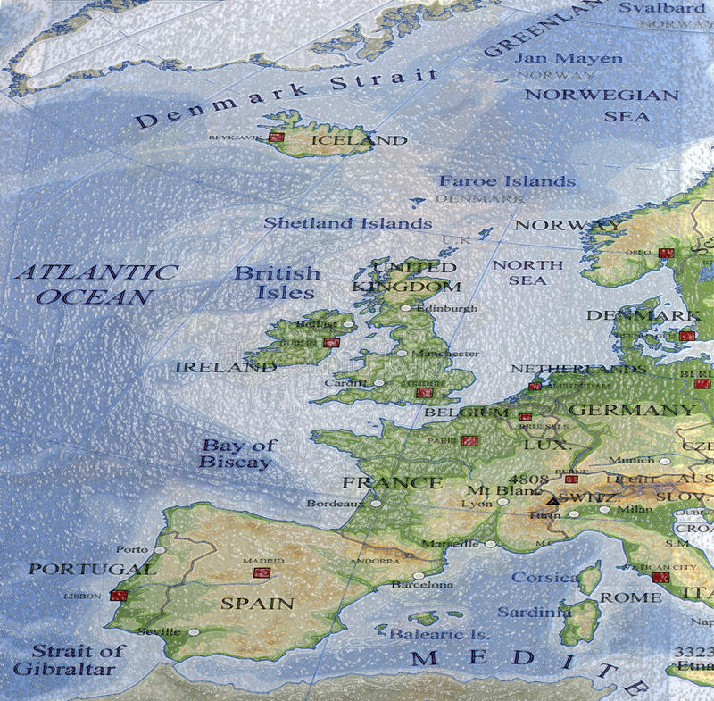 Plastic Colorful Europe Map Stock Images