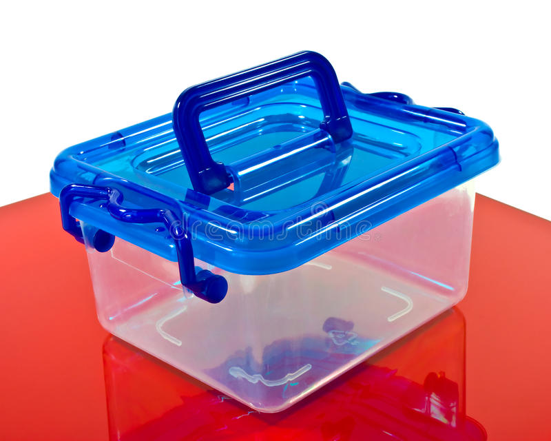 Plastic container royalty-vrije stock foto's