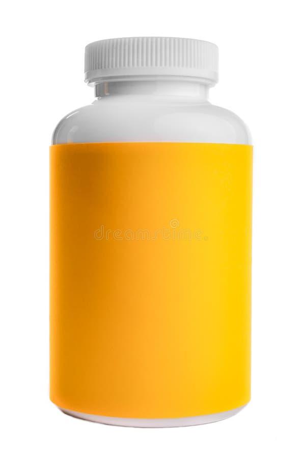Download Plastic Container Bottel Met Geel Etiket Stock Afbeelding - Afbeelding bestaande uit insluiting, plastiek: 54082509