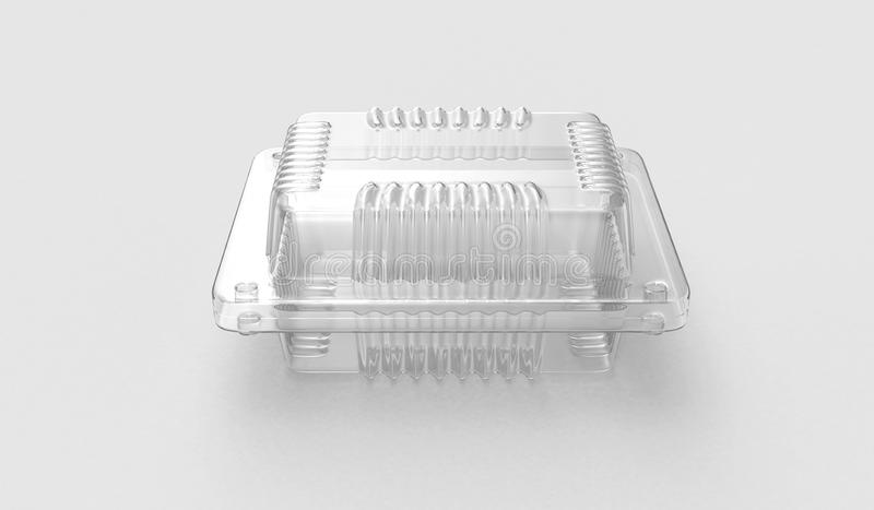 Plastic container for food.3D . 3D rendering stock illustration