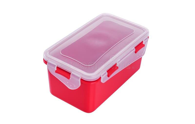 Plastic container met deksel royalty-vrije stock fotografie