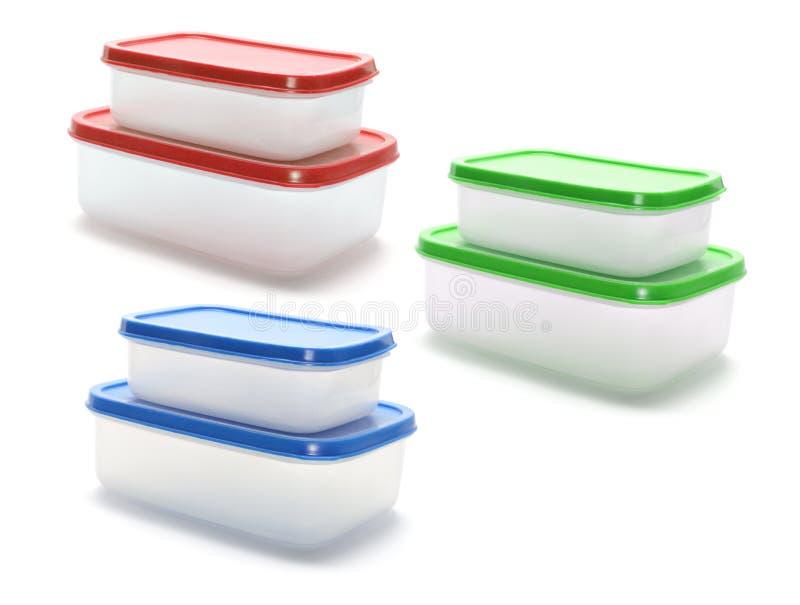 Plastic Containers stock afbeelding
