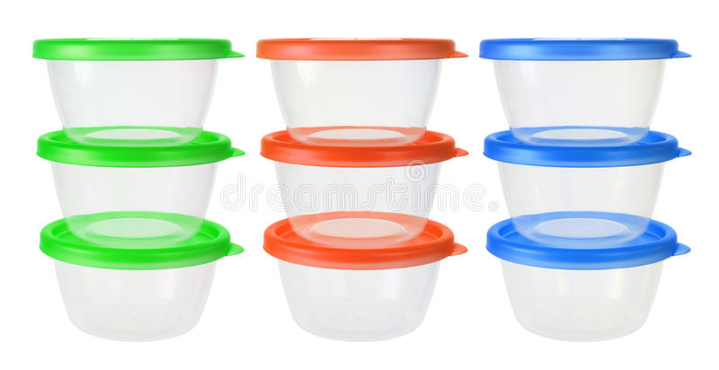 Plastic Containers stock foto's