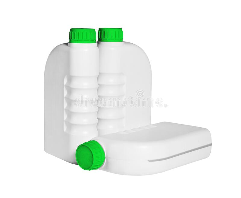 Plastic Containers for Lubricants royalty free stock photography