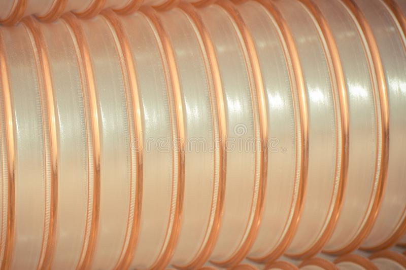 Plastic corrugated pipe for industry stock photos