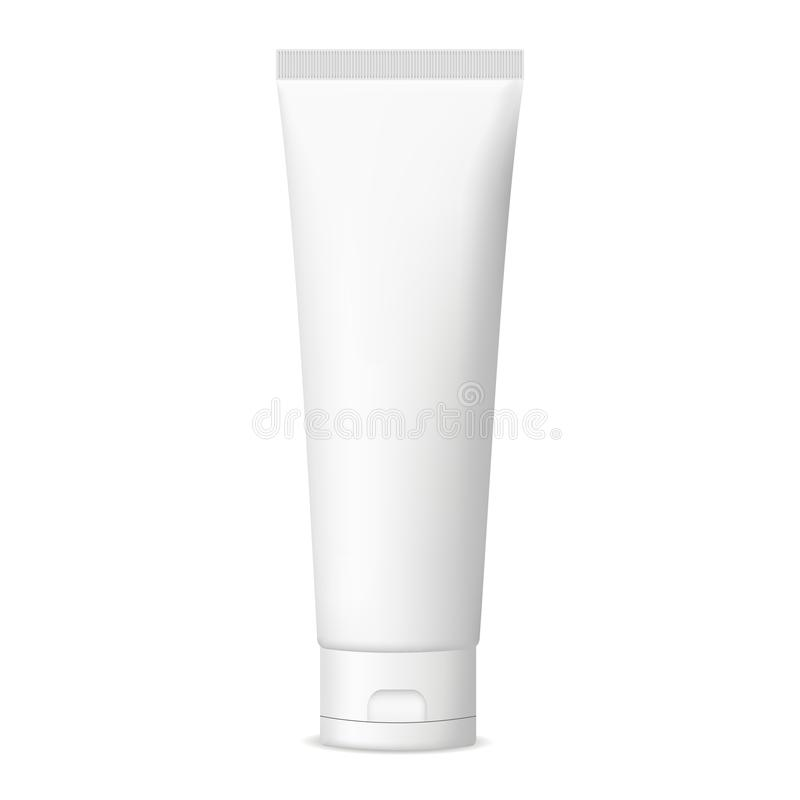 Plastic cosmetic tube for cream or gel mockup stock illustration