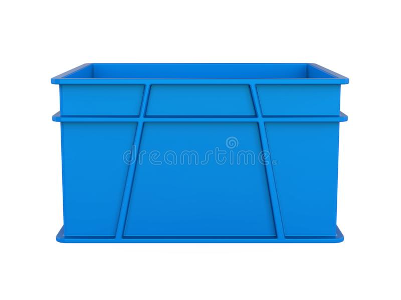 Plastic Crate Isolated royalty free illustration