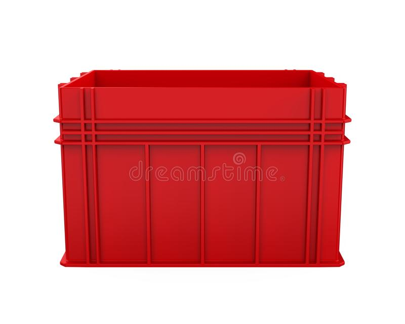 Plastic Crate Isolated vector illustration