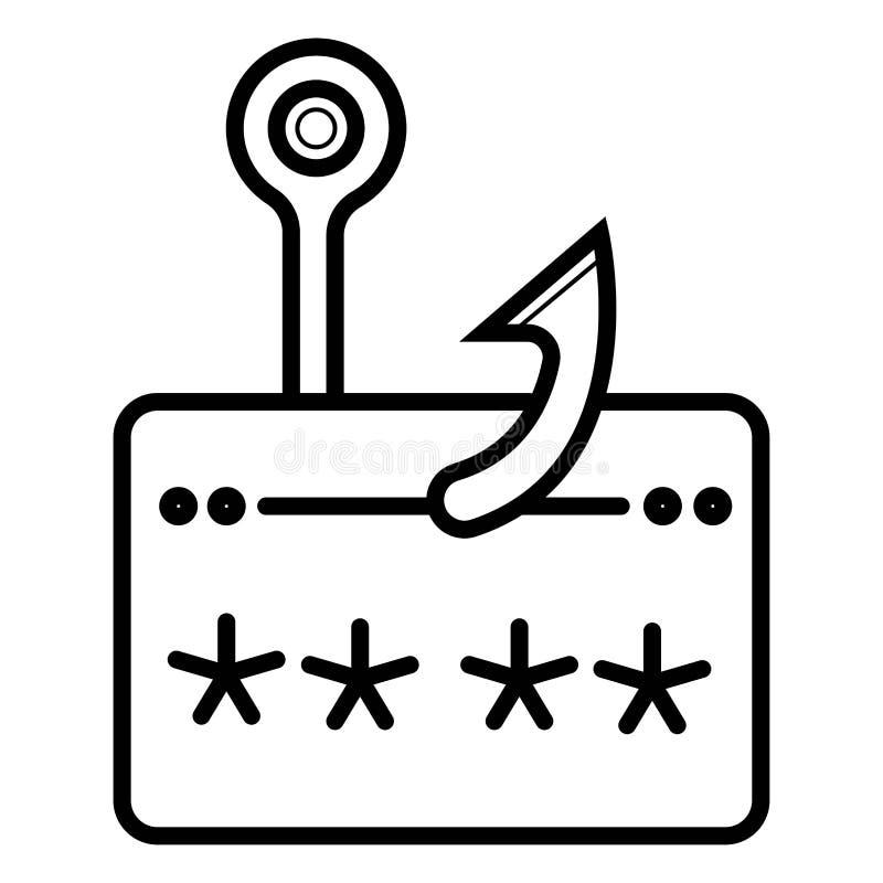 Plastic credit card on hook icon vector illustration