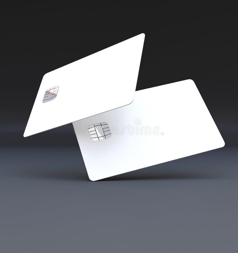 Plastic Credit Cards Mockup Stock Image - Image: 71738171