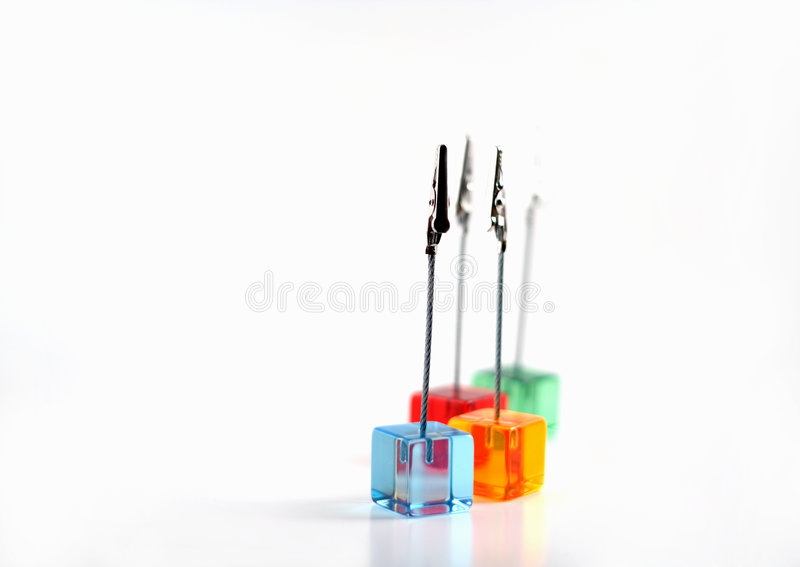 Download Plastic Cubes With Clips Stock Photography - Image: 2651942
