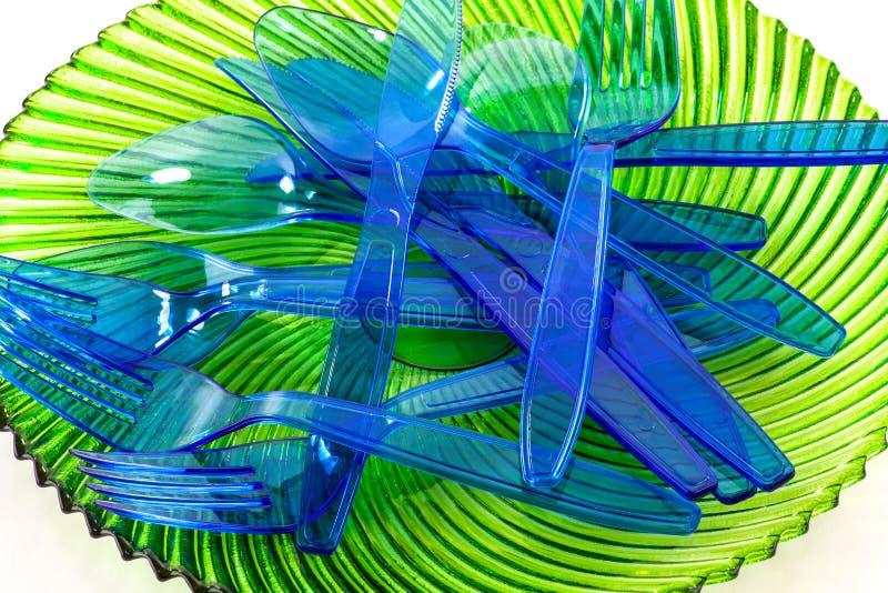 Plastic cultlery stock image