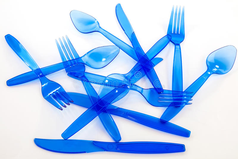 Plastic cultlery royalty free stock images
