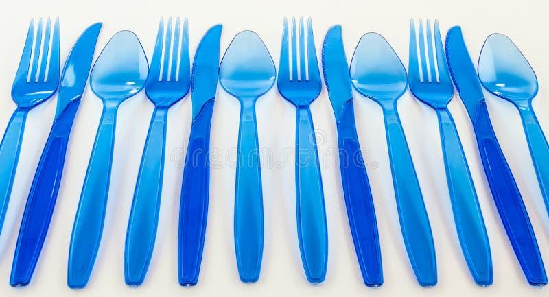 Plastic cultlery royalty free stock photo