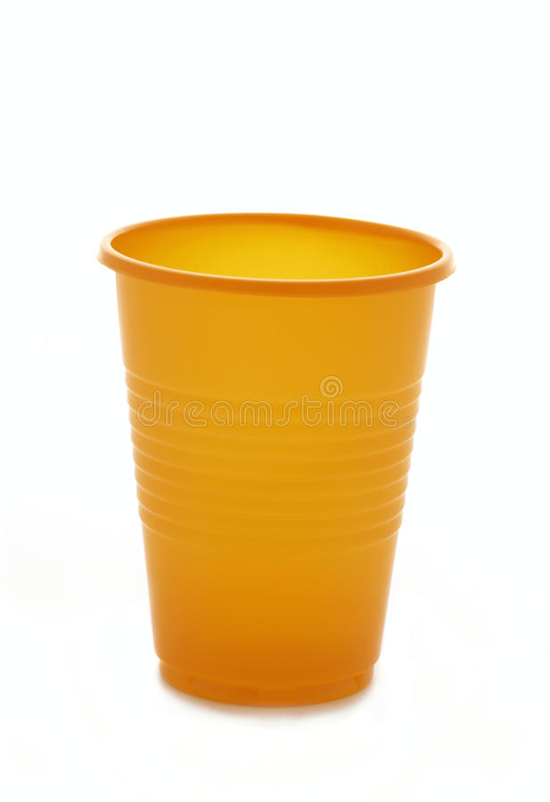 Plastic cup. Is isolated on a white background royalty free stock photos