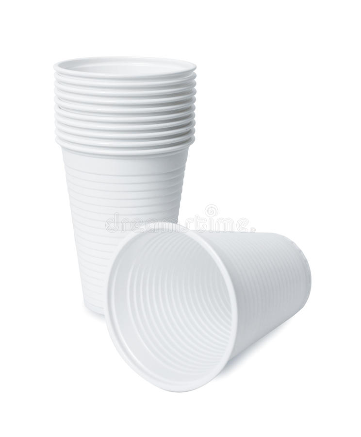 Plastic cup stock image