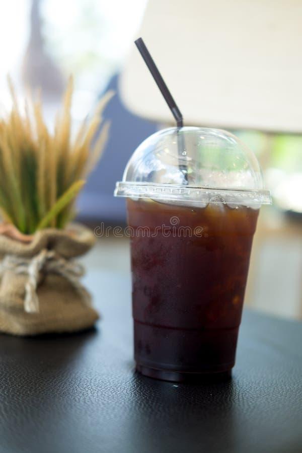 Plastic Cup Of Iced Black Coffee Americano Stock Image ...