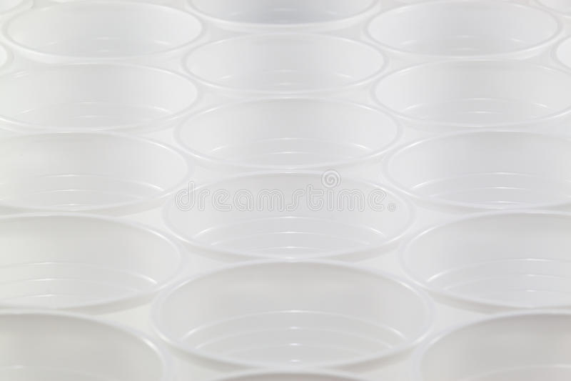 Plastic cup repetition concept royalty free stock photo
