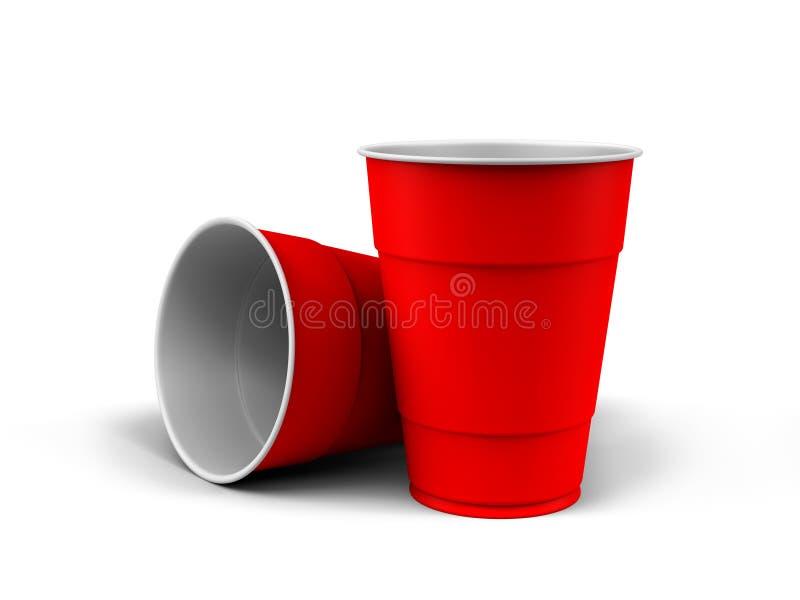 Plastic Cups royalty free illustration