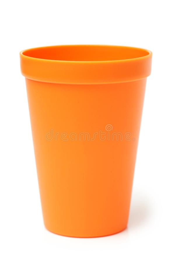 Plastic cups of various colo. NPlastic cups of various colo isolated on white background stock photos